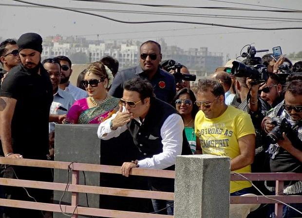 अभिनेता गोविंदा ने अहमदाबाद में मनाया उत्तरायन का जश्न