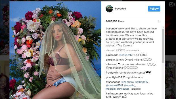 गर्भवती बेयोंसे की अध-नंगी फोटो ने तोड़ दिए सेलेना के रिकॉर्ड