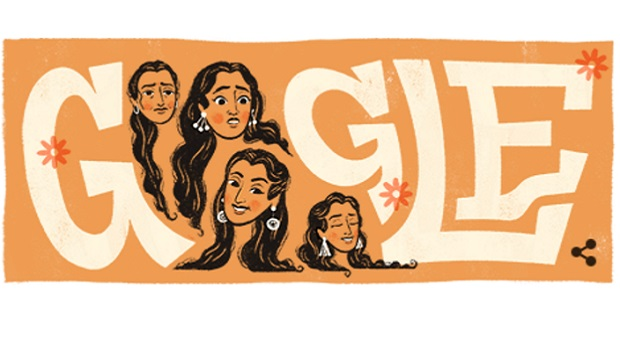गूगल डूडल में 81वें जन्मदिवस पर छाईं फिल्म अभिनेत्री नूतन