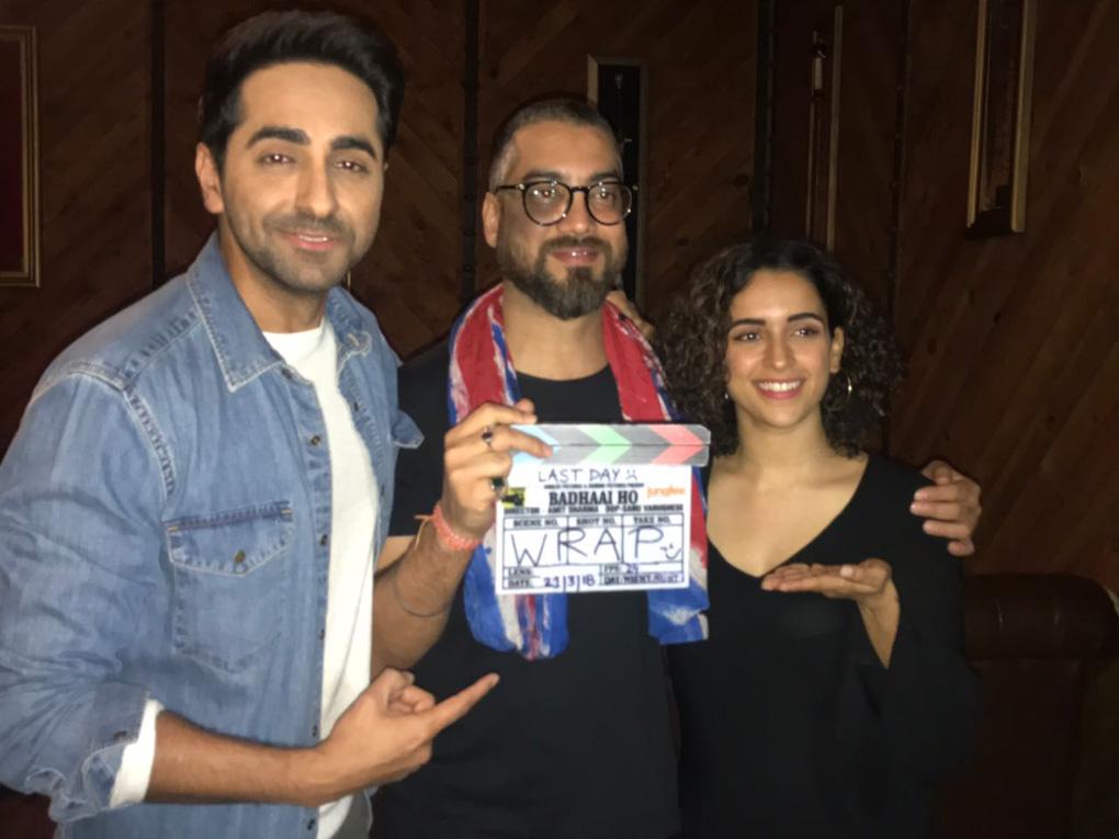 अमित शर्मा की बधाई हो की शूटिंग मुकम्मल, खुशी में झूमे निर्देशक और कलाकार